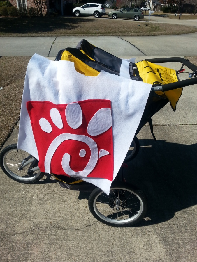 Even the jogging stroller got a makeover!